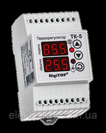 Терморегулятор ТК-5 двухканальный цифровой DIN-рейка DigiTOP, фото 2