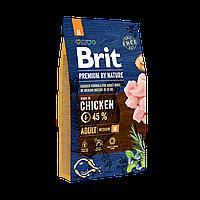 Сухой корм 8 кг для взрослых собак средних пород Брит Премиум / Adult M Brit Premium