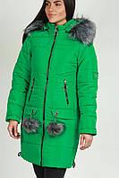Модная женская куртка с бубонами (44 и 50), доставка по Украине