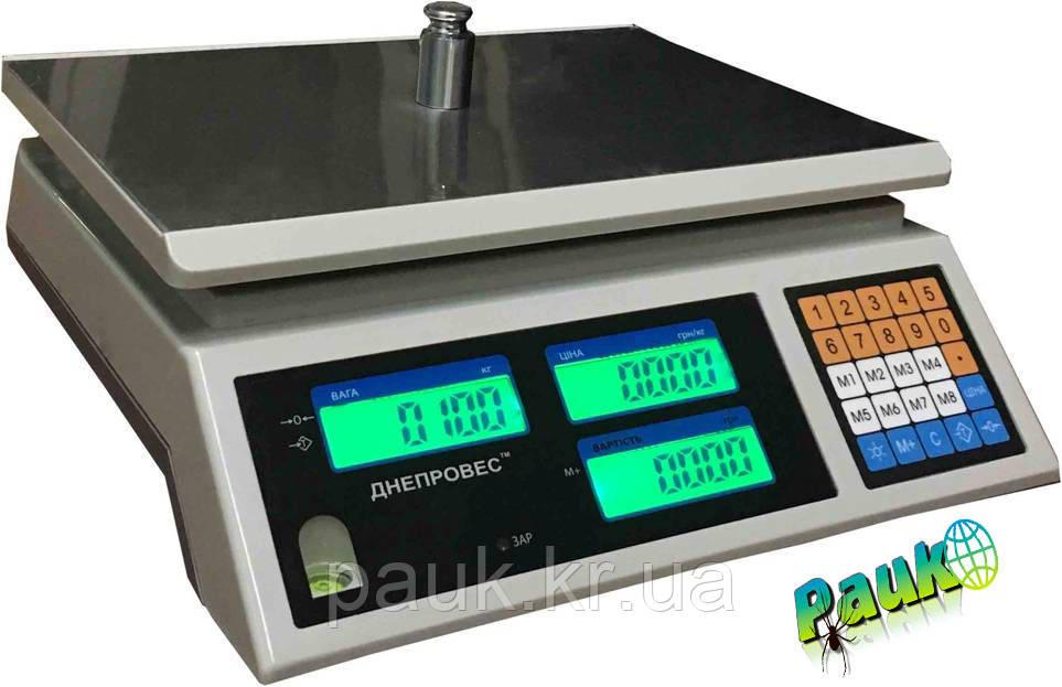 Торговые весы, 6 кг ВТД-ЕС1(ВТД-СЛ1, F902H-6EC1) Днепровес