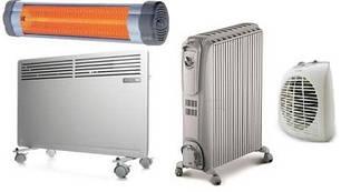 Электрообогреватели, электроконвекторы, масляные обогреватели.
