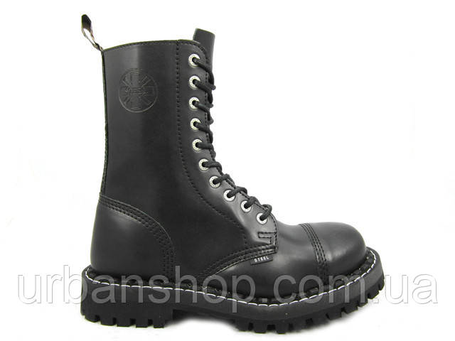 Черевики STEEL 105/106/0 10 дир. чорні (шкіра, сталевий носок, черевики, шкіра)