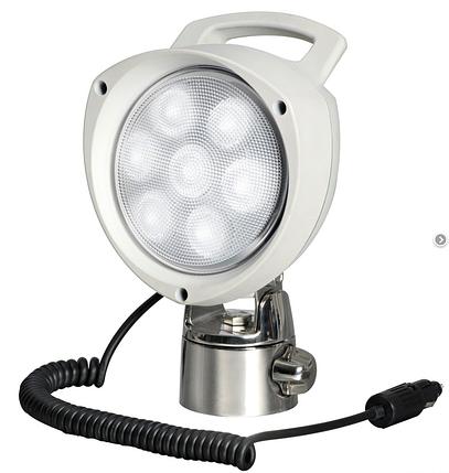 Прожектор светодиодный 7х3w,12/24v, шарнирное крепление, фото 2