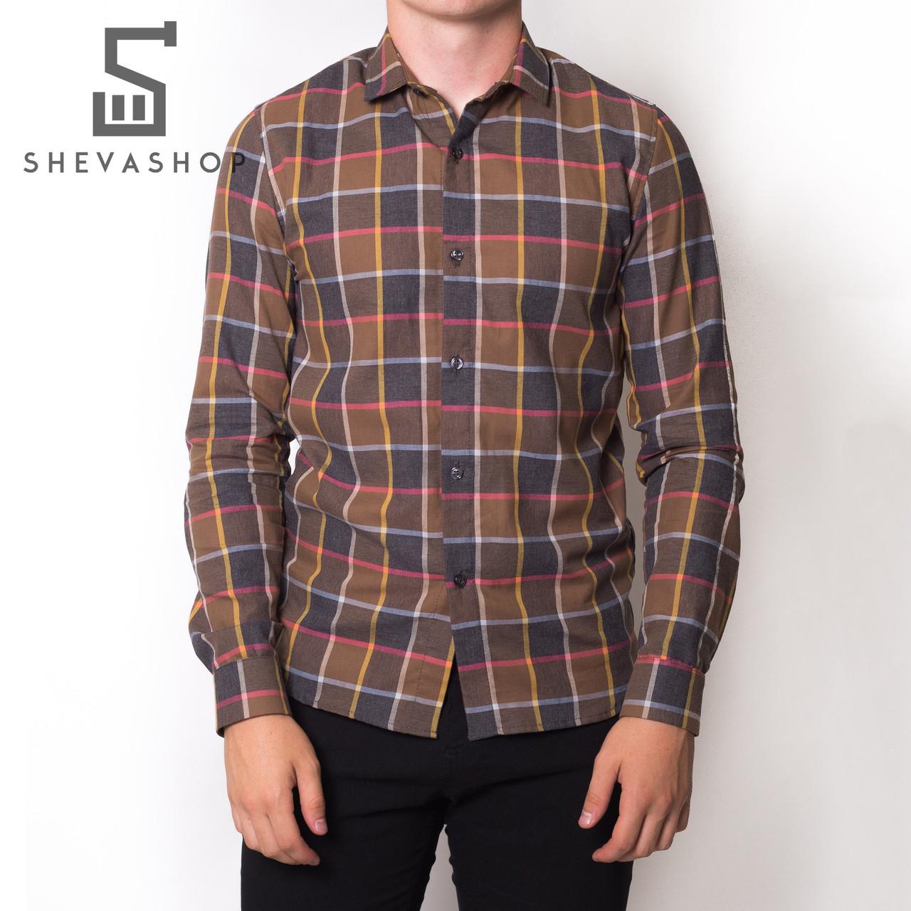 Рубашка MS AW 18 квадраты