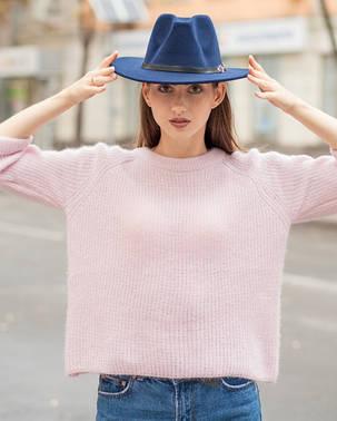 Женская осенняя шляпа синяя, фото 2