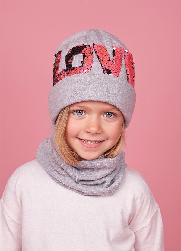 Детская зимняя шапка (набор)для девочек НАНА  оптом размер 50-52