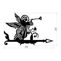 """Декоративый флюгер  """"Ангел"""", указатель направления ветра"""