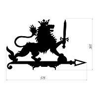 """Декоративый флюгер  """"Лев с мечем"""", указатель направления ветра"""