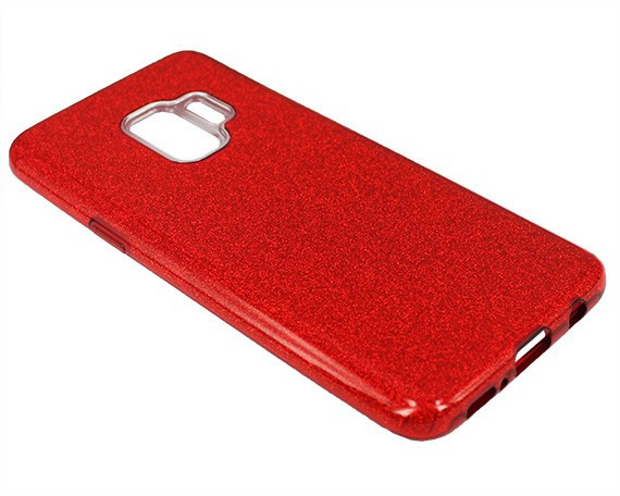"""Накладка Samsung S9+ """"Shine"""" Красная"""