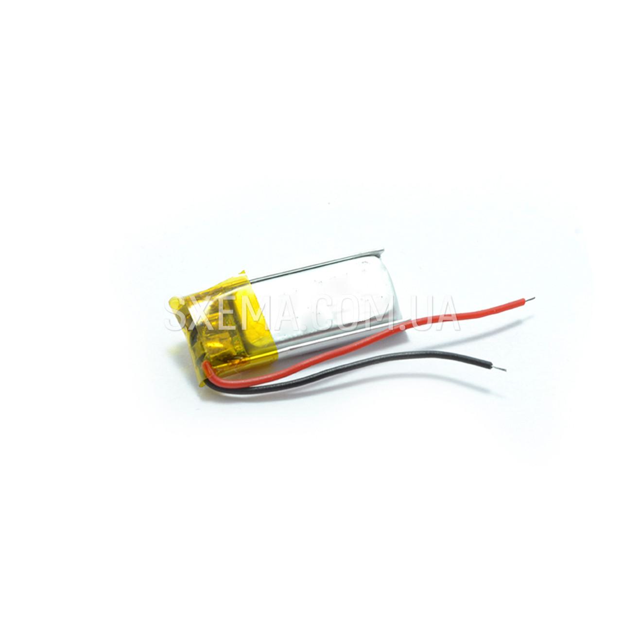Аккумулятор универсальный 041021 (Li-ion 3.7В 160мА·ч), (21*10*4 мм)
