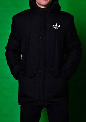 Парка мужская Adidas черная топ реплика  продажа, цена в Киеве ... ad55a7a5059