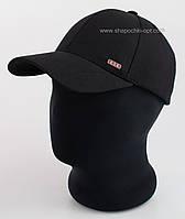 Бейсболка мужская теплая Матадор KSK из черного трикотажа (двухнитка)
