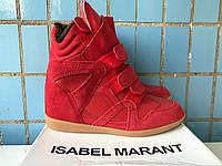 Сникерсы Isabel marant красные на меху, фото 1