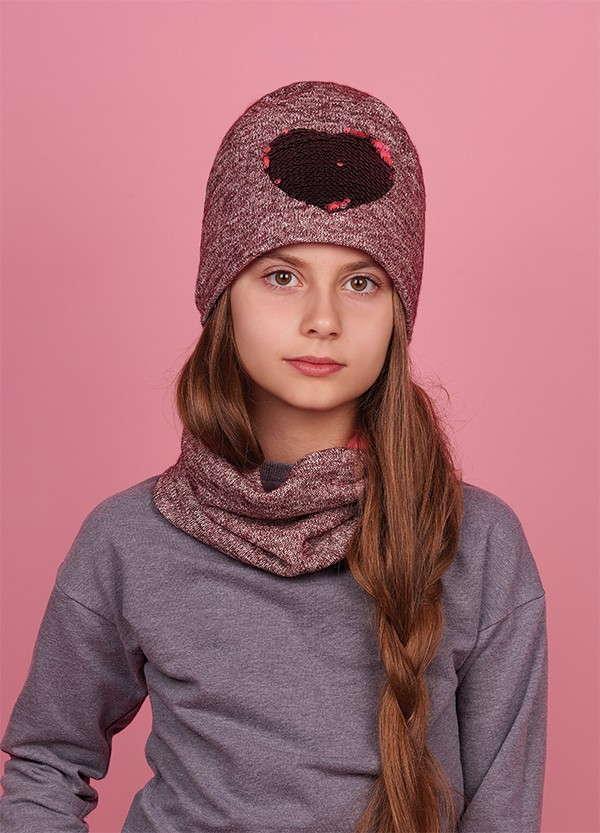 Детская зимняя шапка для девочек МОРИ оптом размер 52-54