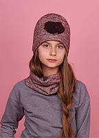 Детская зимняя шапка для девочек МОРИ оптом размер 52-54, фото 1