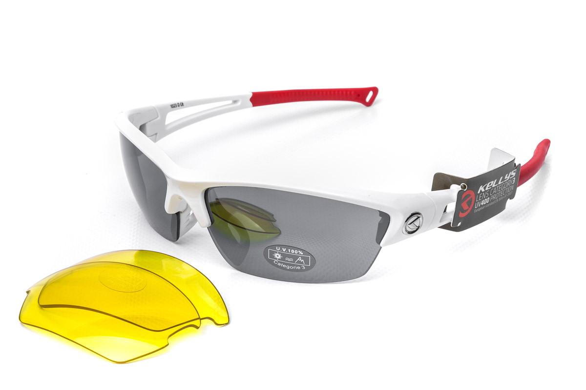 Спортивні окуляри Kellys WRAIHT UVA/UVB/UVC оправа біла/червона