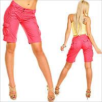Розовые женские шорты с низкой посадкой и карманами