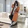 Двусторонняя длинная куртка-парка Коричневый+черный, фото 3