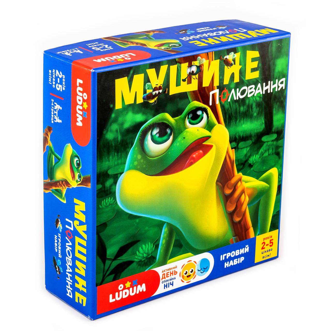 Настольная игра с аудиосказкой - игровой набор для детей 2-5 лет Мушиная охота  TM LUDUM