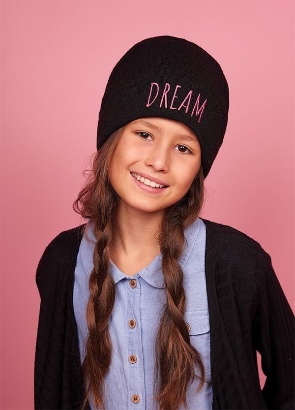 Детская зимняя шапка для девочек КЕЙ оптом размер 52-54