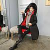 Двусторонняя длинная куртка-парка Черный+красный, фото 5