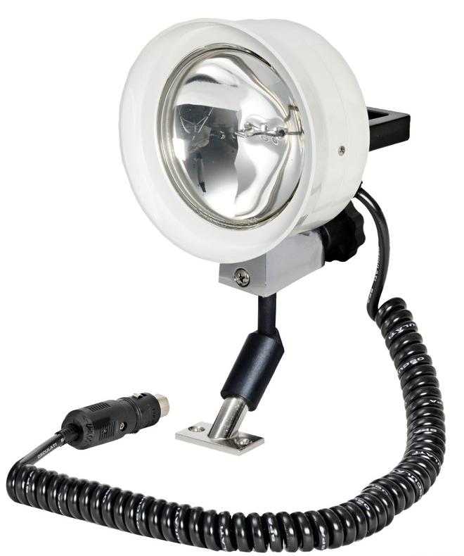 Прожектор поисковый в лодку высокой яркости дальность света до 500 м 12 V, 100 W