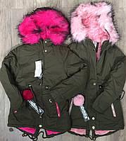 Куртки на меху для девочек оптом, S&D, 8-16 лет., арт.KF-103