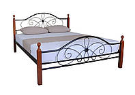 Кровать Фелиция Вуд двуспальная 200х160, черная