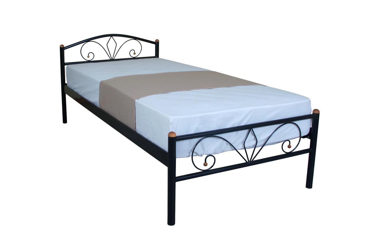 Кровать  Лара Люкс односпальная  200х90, черная
