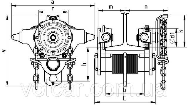 Тележка для тали Brano Z420 1т