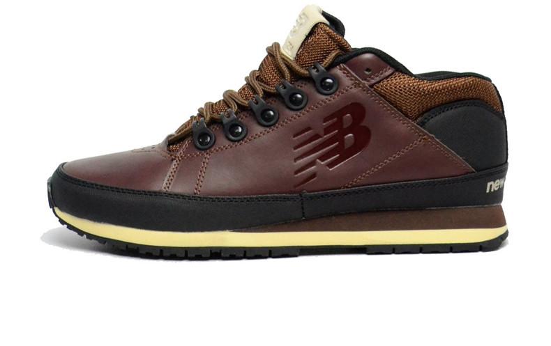 Мужские кроссовки New Balance 754 Winter Brown Black (С мехом) (Реплика ААА 7e2105b0dc2