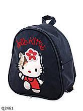 Текстильный детский рюкзачок с Hello Kitty черный