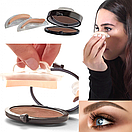 Штамп пудра для бровей / Набір штампів для брів Eyebrow Beauty Stamp /  3 Second Brow eyebrow stamp, фото 2