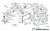 Опора радиатора нижняя резиновая Nissan Leaf ZE0 / AZE0 (10-17) 21508-4P000