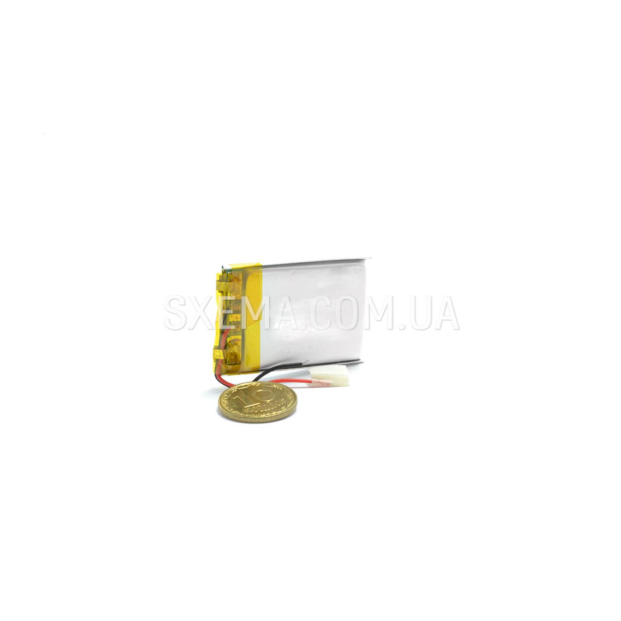 Аккумулятор универсальный 042530 (Li-ion 3.7В 350мА·ч), (30*25*4 мм)