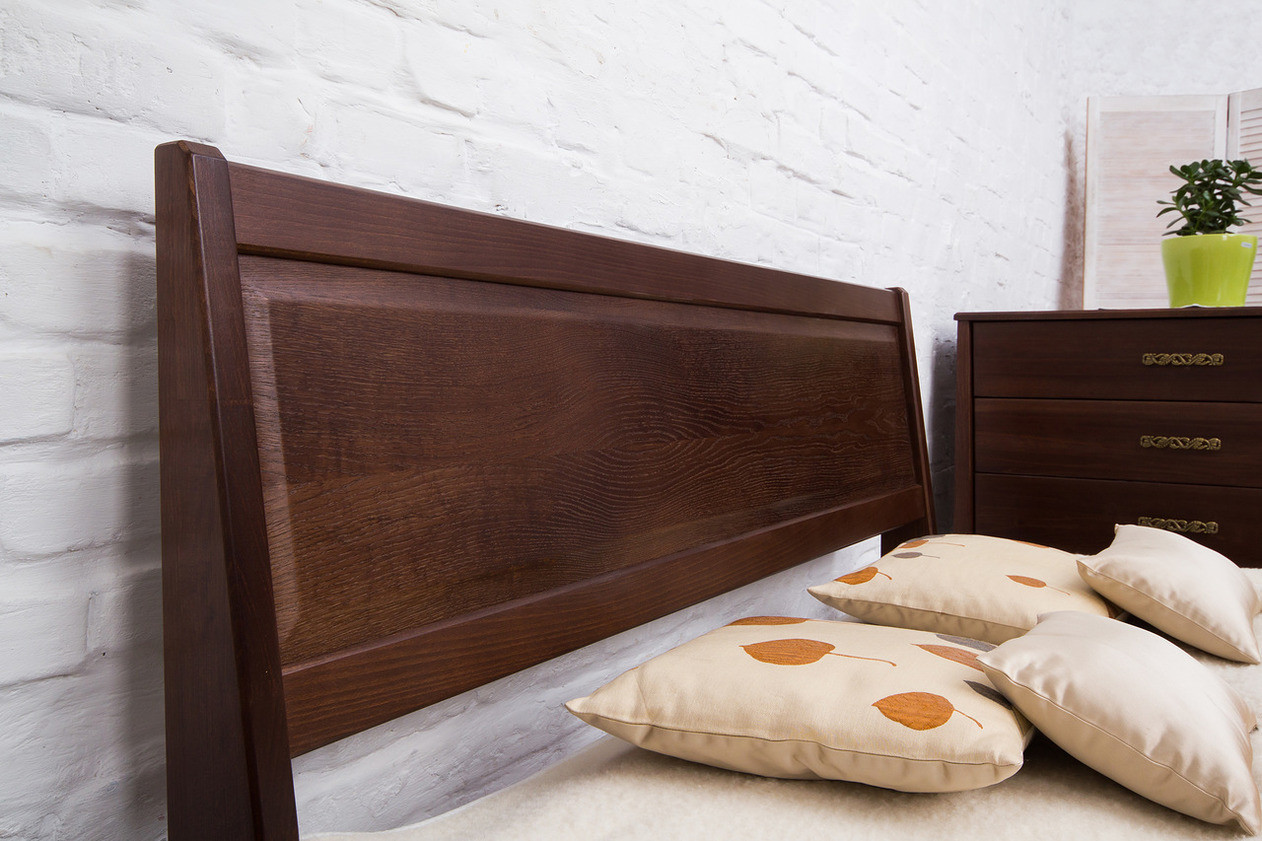 Кровать двуспальная деревянная  Сити с изножьем (филенка) Микс мебель, цвет на выбор