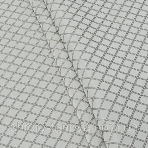 Жаккард, ромб молочно-серый