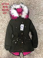 Куртка утепленная для девочек оптом, S&D, 8-16 лет,  № KF104