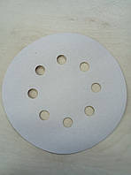 Абразивный диск INDASA RhynoGrip White Line -P120, D125, 8 отверстий.