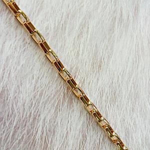 Цепочка для сумки с прямоугольным звеном, цвет золото