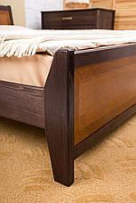 Кровать двуспальная деревянная Сити с изножьем (интарсия) Микс мебель, цвет на выбор, фото 2