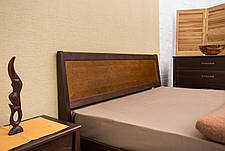 Кровать двуспальная деревянная Сити с изножьем (интарсия) Микс мебель, цвет на выбор, фото 3