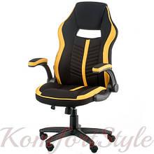 Кресло Prime black/yellow