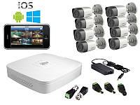 Dahua Комплект видеонаблюдения Dahua HD-CVI Улица-8 (1 Мп)