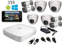 Dahua Комплект видеонаблюдения Dahua HD-CVI 4х4 (1 Мп)