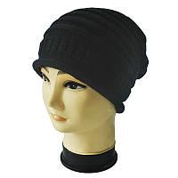 Стильная шапка весна/осень унисекс черная