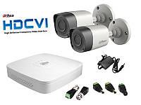 Dahua Комплект видеонаблюдения Dahua HD-CVI Улица-2 (2Мп)
