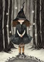 """Открытка """"Ведьмочка в лесу"""", фото 1"""