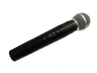 Радиомикрофон беспроводной с радиобазой UKC SH-200, черный