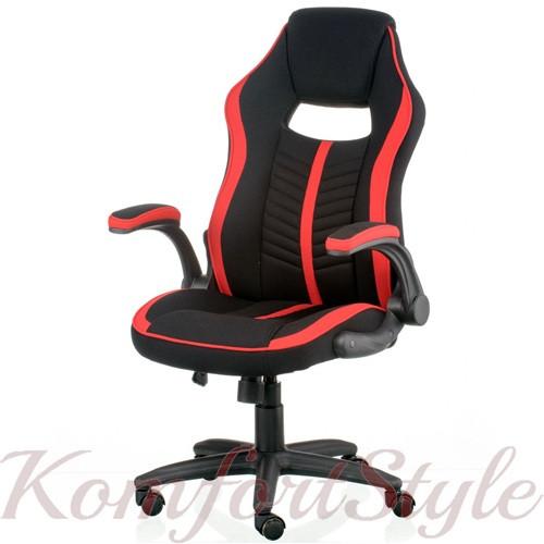 Кресло Prime black/red